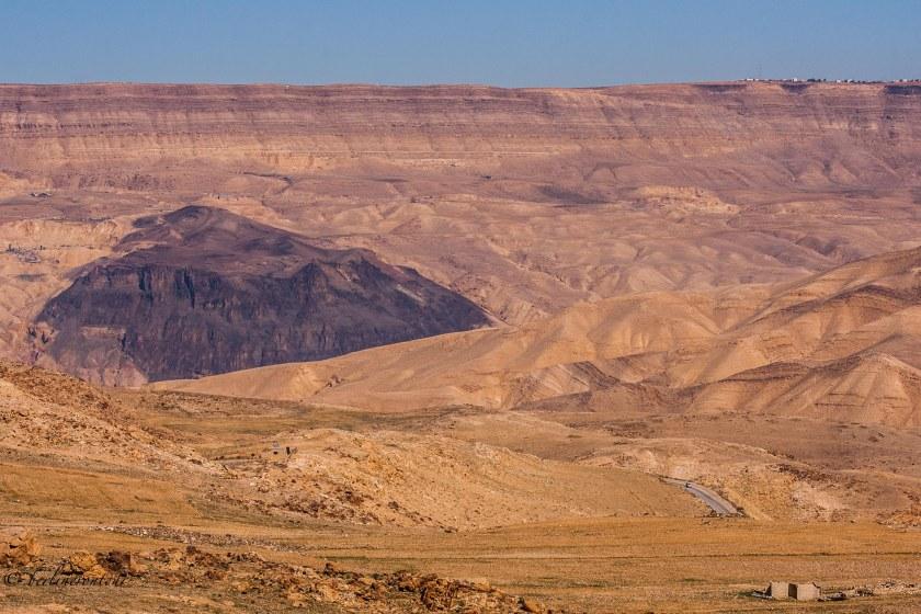 Auf dem Highway 35 in Jordanien