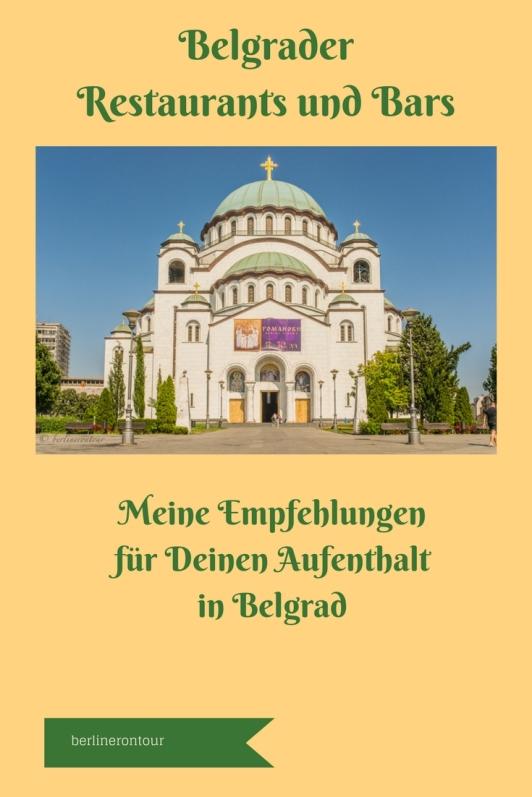 Belgrad - Restaurants und Bars